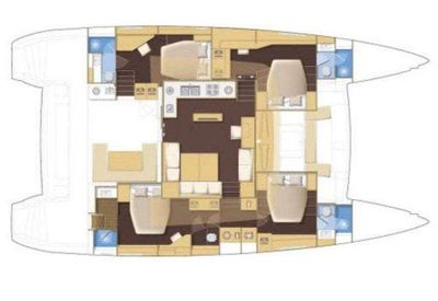 Yacht Charter STERLING Layout