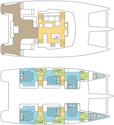 Yacht Charter Dream Tobago Layout