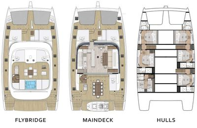 Yacht Charter FEEL THE BLUE Layout