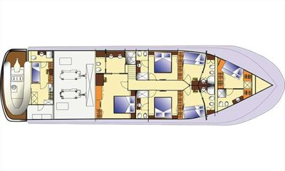 Yacht Charter ARIA C Layout