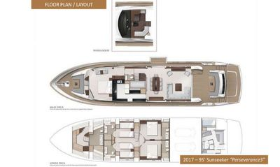 Yacht Charter PERSEVERANCE 3 Layout