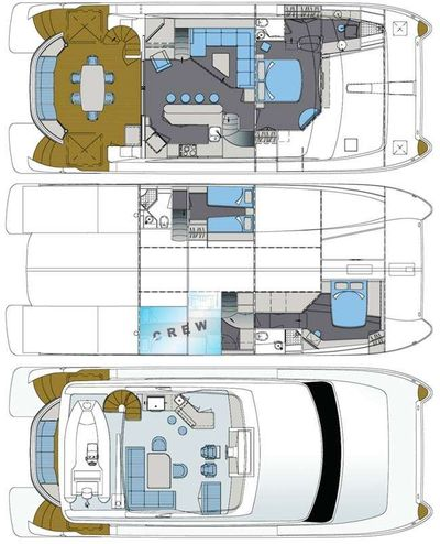 Yacht Charter BLUE HORIZON Layout