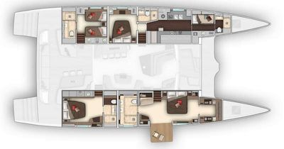 Yacht Charter BABAC Layout