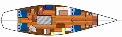 Yacht Charter Volador Layout