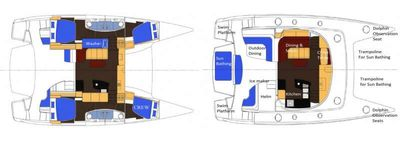 Yacht Charter MY CHERIE AMOUR Layout