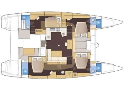 Yacht Charter JOY 52 Layout
