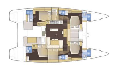 Yacht Charter NOMAD Layout