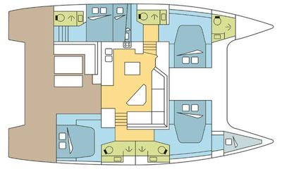 Yacht Charter BLACK TORTUGA Layout