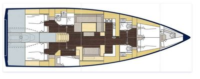 Yacht Charter Cosmos Star Layout