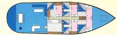 Yacht Charter Angelica Layout