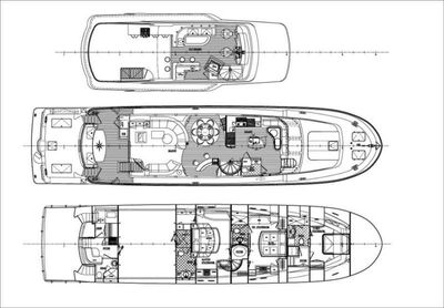 Yacht Charter JUS CHILL'N Layout