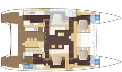 Yacht Charter OCEAN VIEW Layout