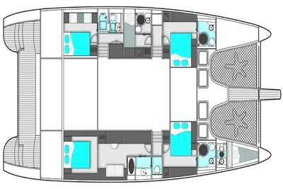 Yacht Charter EXCESS Layout