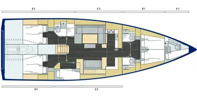 Yacht Charter Wyvern Layout