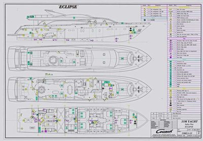 Yacht Charter ECLIPSE 114 Layout