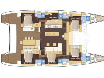 Yacht Charter ADRIATIC TIGER (Lagoon 620) Layout