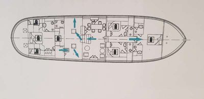 Yacht Charter Summer Princess Layout