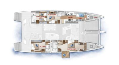 Yacht Charter ADRIATIC DRAGON (Lagoon 77) Layout