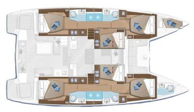 Yacht Charter ADRIATIC LEOPARD (Lagoon 50) Layout