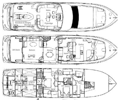 Yacht Charter PRIME TIME Layout