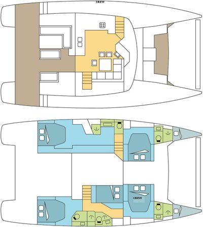 Yacht Charter Ghost Layout