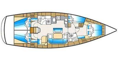 Yacht Charter Lazy Travels Layout