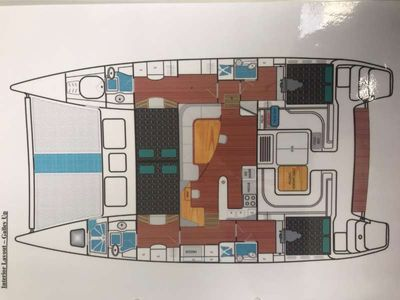 Yacht Charter GUINEVERE Layout