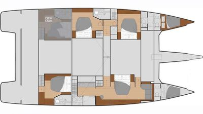 Yacht Charter BLACK CAT Layout