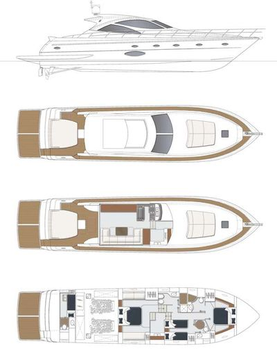 Yacht Charter Fly Away Layout