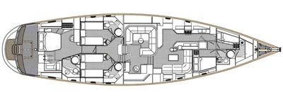 Yacht Charter RAVEN CLAW Layout