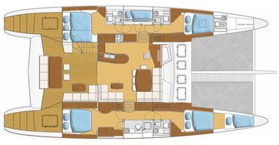 Yacht Charter SOON COME Layout