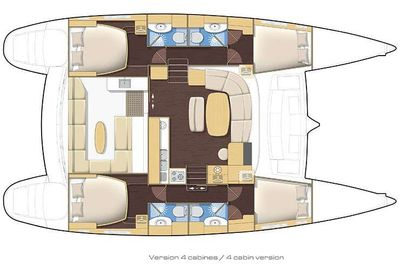 Yacht Charter FORCE 10 Layout