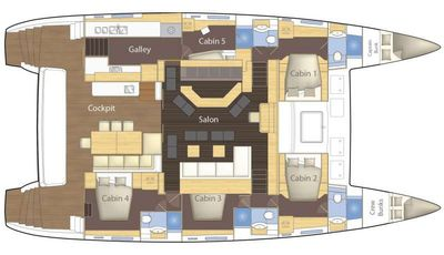 Yacht Charter PRIMETIME Layout
