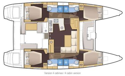 Yacht Charter Sunshine of the sea Layout