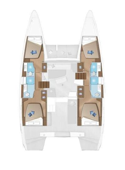 Yacht Charter Sunrise Layout