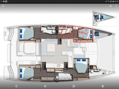 Yacht Charter MOON BLOSSOM Layout