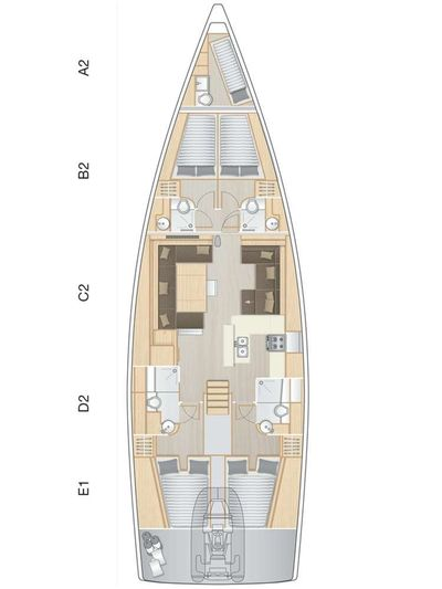 Yacht Charter MED SEA TATION Layout