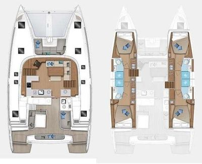 Yacht Charter Brighter Star Layout
