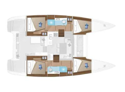 Yacht Charter ANTARES Layout