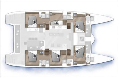 Yacht Charter SHOOTING STAR Layout