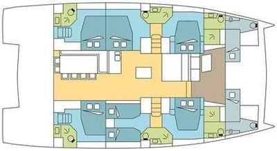 Yacht Charter Ad Astra Layout