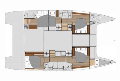 Yacht Charter WHITE CORAL Layout