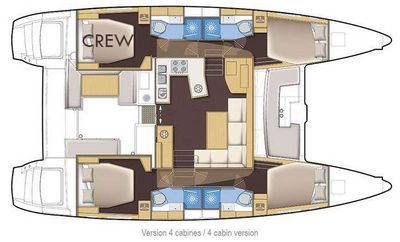 Yacht Charter RAPSCALLION Layout