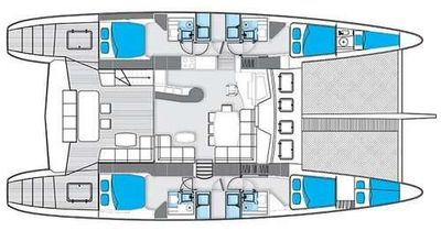 Yacht Charter DOLCEVITACAT Layout