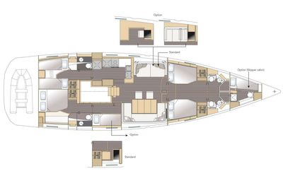 Yacht Charter LIFE TIME Layout