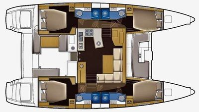 Yacht Charter Madrigal V Layout