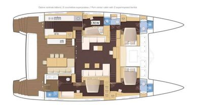Yacht Charter JUST MARIE Layout