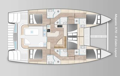 Yacht Charter BAREFEET RETREAT Layout