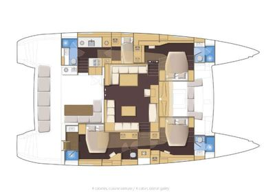 Yacht Charter GOLDEN PEARL Layout