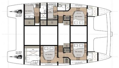 Yacht Charter SOLITAIRE Layout